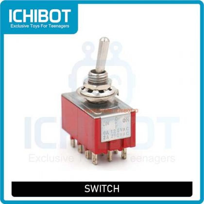 Toggle Switch MTS 403 4PDT ON OFF ON 3 Files 12 Feet 6A 125VAC