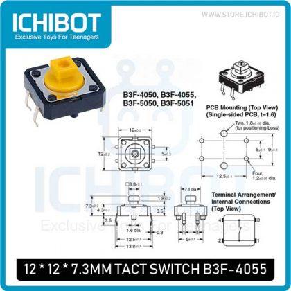 Push Button Tact B3F-4055 12x12x7.3mm