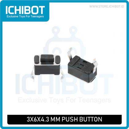 Push Button 3 Kaki DIP 3x6x4.3 mm
