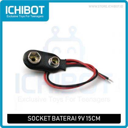 Socket Baterai 9v 15cm Battery Socket