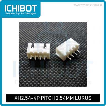 Socket XH2.54 4P pitch 2.54mm 4P Lurus